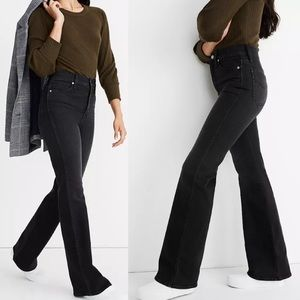 """Madewell 11"""" Flare High Rise Jeans Black 70s AB267"""